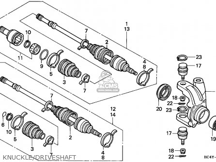 Honda 300 Fourtrax Parts Diagram For 1995 Model