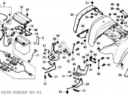 Honda TRX300FW FOURTRAX 4X4 1990 (L) USA parts lists and