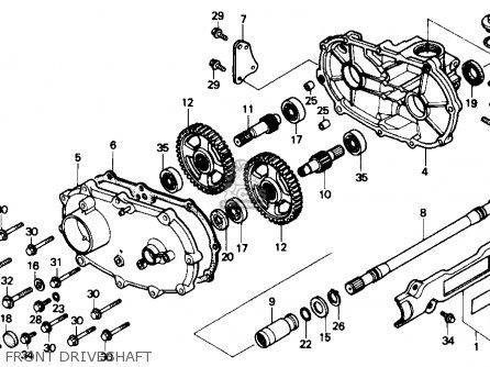 Honda Trx300fw Fourtrax 4x4 1990 Usa parts list