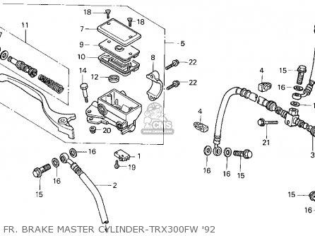 Honda Trx300 Fourtrax 300 1992 Usa Color Tables Trx300fw