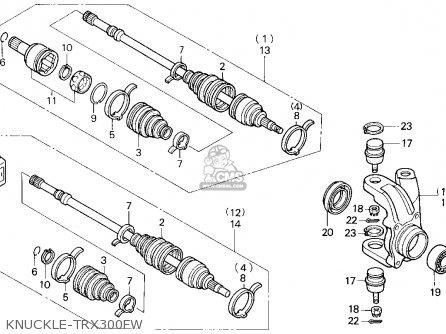 Honda Trx300fw Fourtrax 4x4 1992 (n) Usa parts list