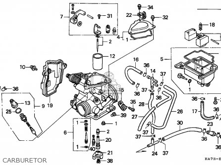 Honda Trx350 Fourtrax 1986 Canada parts list partsmanual