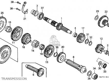 Honda Trx350 Fourtrax 1986 England parts list partsmanual