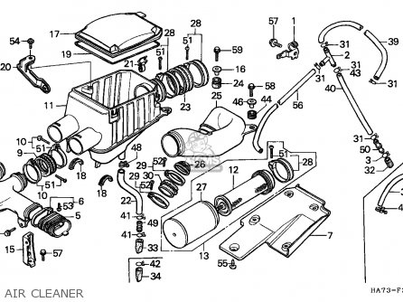 Honda TRX350 FOURTRAX 1986 (G) CANADA parts lists and