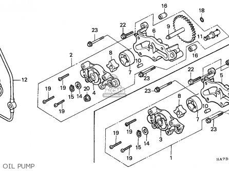 Honda Trx350 Fourtrax 1986 (g) Canada parts list
