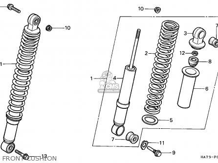 Honda TRX350 FOURTRAX 1986 (G) ENGLAND parts lists and