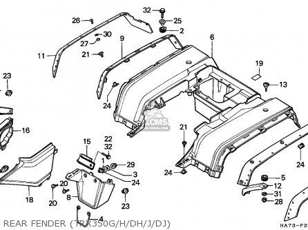 Honda Trx350 Fourtrax 1986 (g) England parts list