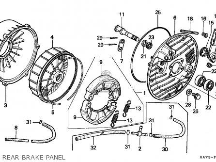 Honda TRX350 FOURTRAX 1987 (H) CANADA MK parts lists and
