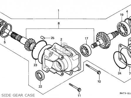 Honda Trx350 Fourtrax 1987 (h) Canada Mm parts list