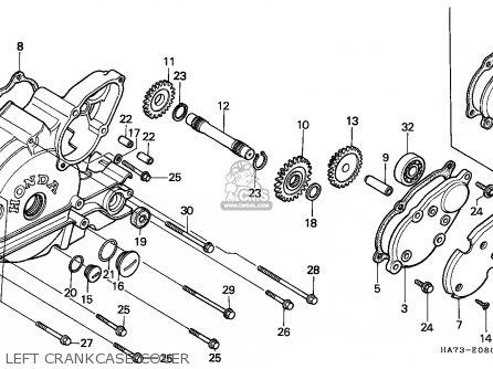 Honda TRX350 FOURTRAX 1990 (L) CANADA parts lists and