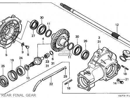 Honda Trx350 Fourtrax 1990 parts list partsmanual partsfiche
