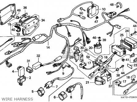 Honda Trx350 Fourtrax 1991 (m) Canada Sul parts list