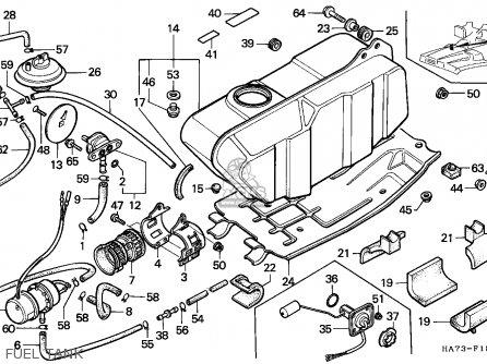 Honda Trx350 Fourtrax 1991 / Sul parts list partsmanual