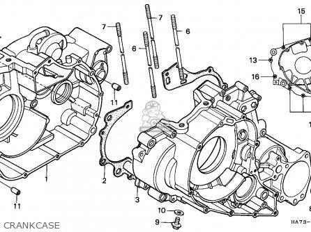 Honda Trx350 Fourtrax 1992 (n) Sul parts list partsmanual