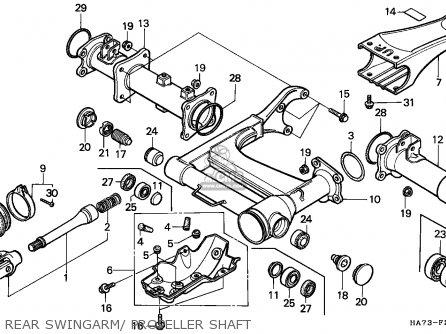 Honda TRX350 FOURTRAX 1993 (P) CANADA SUL parts lists and