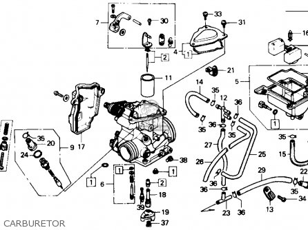 Honda Trx350 Fourtrax 4x4 1986 (g) Usa parts list partsmanual partsfiche