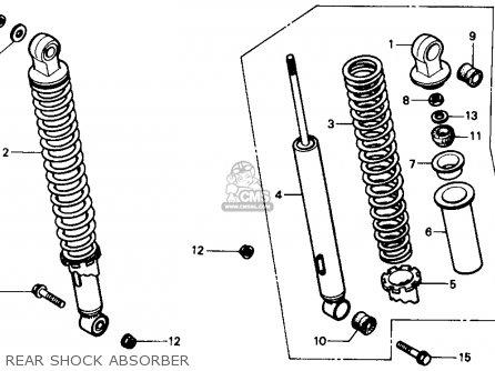 Honda Trx350 Fourtrax 4x4 1986 (g) Usa parts list