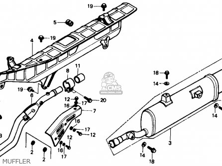 Honda Trx350 Fourtrax 4x4 1986 Usa parts list partsmanual