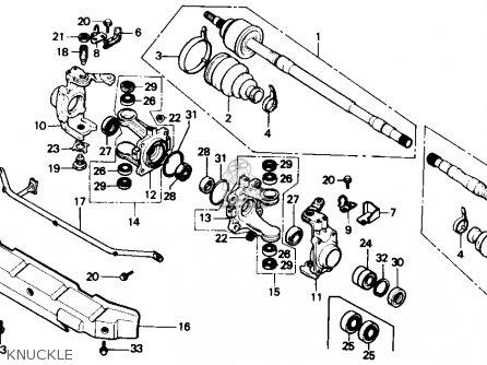 Honda TRX350 FOURTRAX 4X4 1987 (H) USA parts lists and