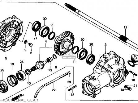Honda Trx350 Fourtrax 4x4 1987 Usa parts list partsmanual