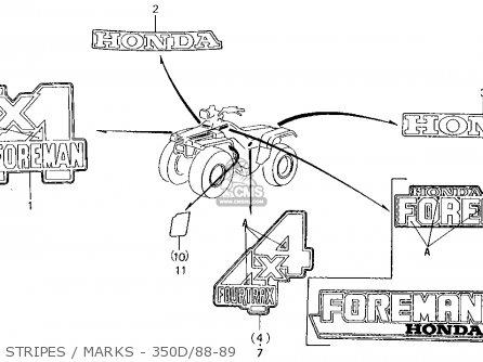 1987 Honda Trx350d Wiring Diagram. Honda. Auto Wiring Diagram