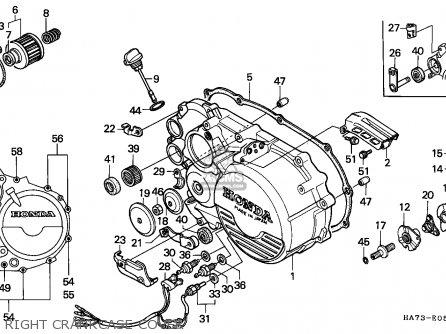 Honda Trx350d Fourtrax 1987 (h) England Sul parts list