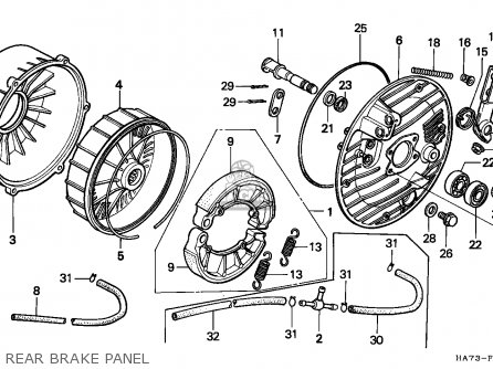 Honda Trx350d Fourtrax 1989 (k) England Sul parts list