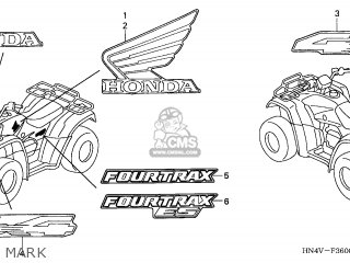 Honda TRX350FM FOURTRAX 2006 (6) AUSTRALIA parts lists and