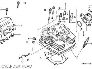Honda TRX350TE FOURTRAX 2003 (3) USA EC parts lists and