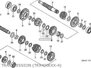 Honda TRX400EX FOURTRAX 1999 (X) CANADA CMF parts lists