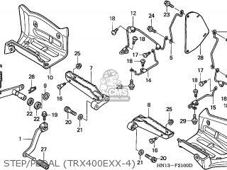 Honda TRX400EX SPORTRAX 2003 (3) AUSTRALIA CMF parts lists