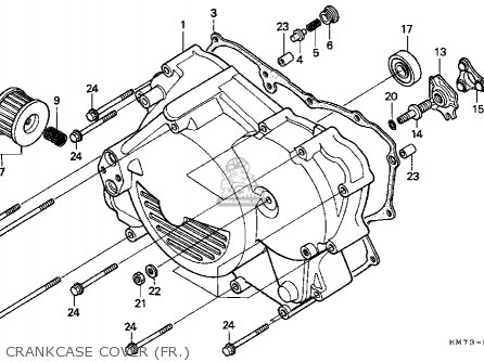Honda Trx400fw 1995 Usa parts list partsmanual partsfiche