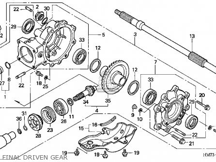 Honda TRX400FW 1997 (V) USA parts lists and schematics