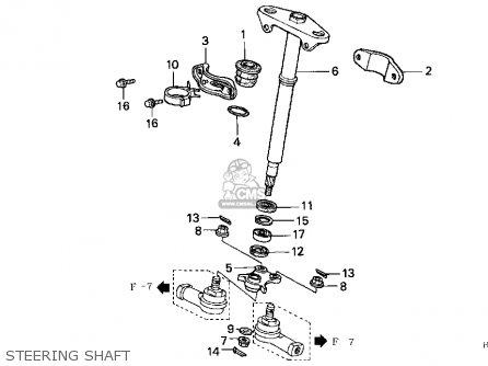 Honda Trx400fw 1997 (v) Usa parts list partsmanual partsfiche