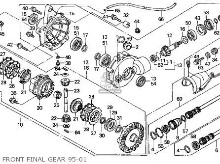 Honda Trx400fw 1999 Usa parts list partsmanual partsfiche