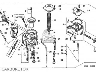Honda Trx450es Fourtrax 1998 (w) Canada Ref parts list