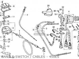 Honda Trx450es Fourtrax Foreman Es 1998 Usa parts list