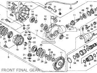 Honda Trx450es Fourtrax Foreman Es 1999 Usa parts list