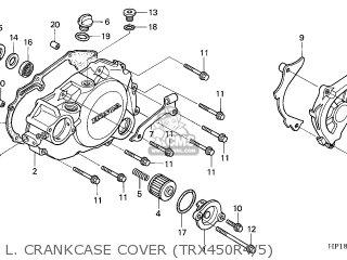 Honda TRX450R FOURTRAX 2004 (4) AUSTRALIA parts lists and