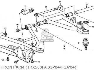 Honda TRX500FA 2001 (1) USA parts lists and schematics