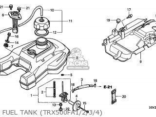 Honda TRX500FA FOURTRAX FOREMAN 2002 (2) CANADA CMF parts