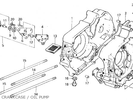 Honda Trx70 Fourtrax 70 1986 (g) Usa parts list