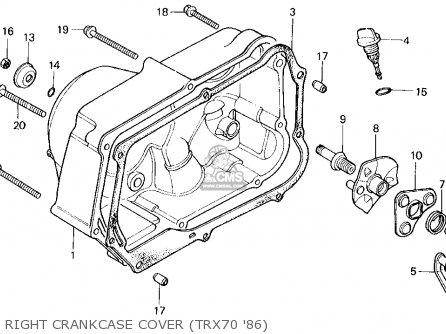 Honda TRX70 FOURTRAX 70 1986 (G) USA parts lists and
