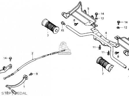 Honda Trx70 Fourtrax 70 1986 Usa parts list partsmanual