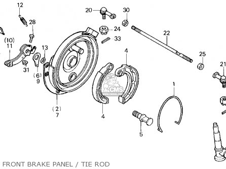 Honda Trx70 Fourtrax 70 1987 (h) Usa parts list