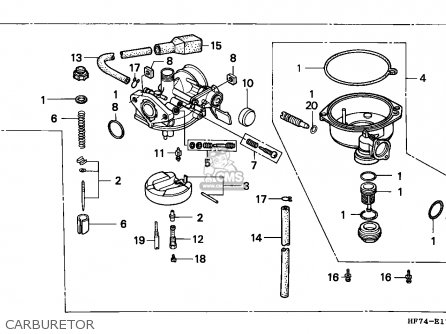 Honda TRX90 FOURTRAX 1993 (P) USA parts lists and schematics
