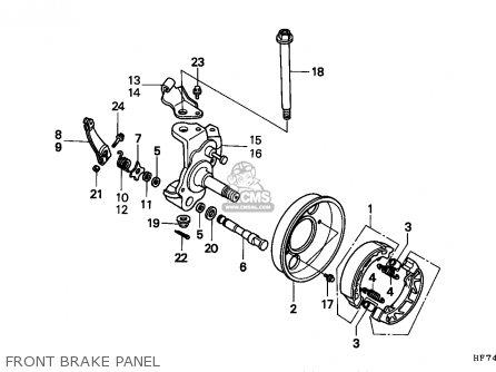 Honda TRX90 FOURTRAX 1993 (P) USA parts lists and schematics