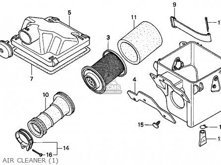 Honda TRX90 FOURTRAX 90 1993 (P) USA parts lists and