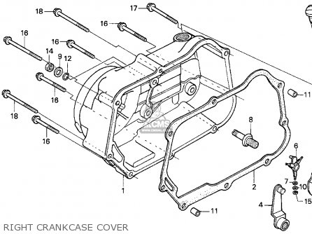 Honda TRX90 FOURTRAX 90 1995 (S) USA parts lists and