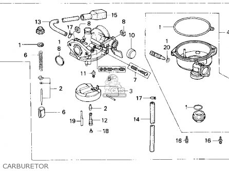 Honda Trx90 Fourtrax 90 1995 Usa parts list partsmanual